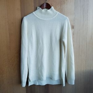 Banana Republic Cream Mock High Neck Sweater